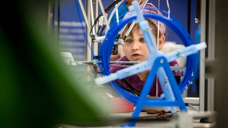 Besonders der 3D-Drucker am Stand des Bildungsnetzwerks Baden lockte viele Besucher an