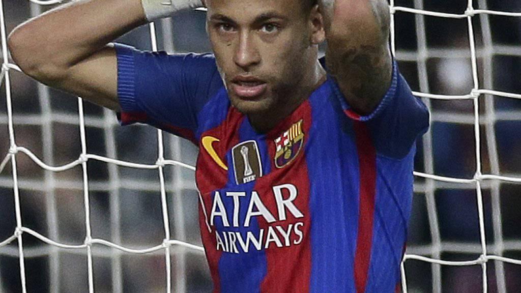Gerät Stürmerstar Neymar im Zuge des Korruptionsskandals um seinen Transfer zum FC Barcelona in Erklärungsnot?