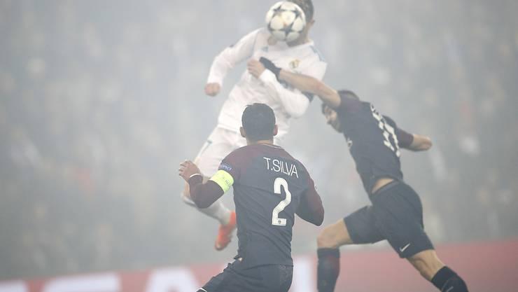 Die entscheidende Szene: Cristiano Ronaldo hat die Lufthoheit und nickt zum Führungstreffer ein.