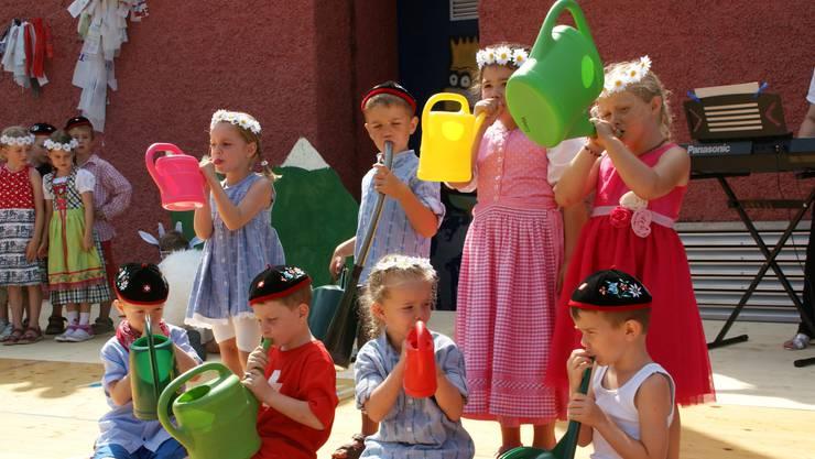 Das Giesskannenkonzert der Schuljugend war Teil des Jugendfests 2015.