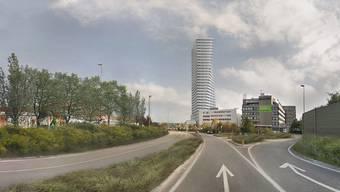 Wäre der höchste in Baselland: Spengler-Turm. (Visualisierung)