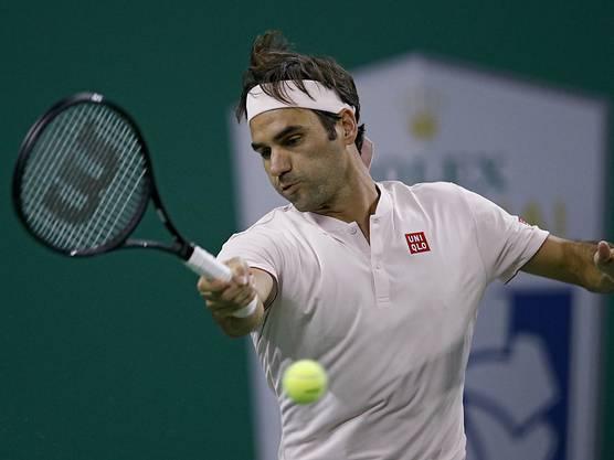 Roger Federer musste gegen den Spanier Roberto Bautista Agut fast zwei Stunden kämpfen, bis er den Viertelfinal-Einzug sicherstellen konnte
