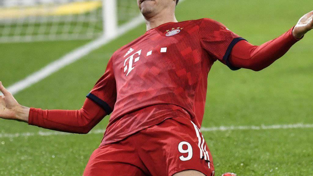Robert Lewandowski wie gewohnt: Der Pole traf auch in Gladbach für die Bayern