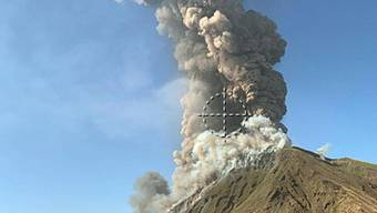 Explosion des Vulkans Stromboli