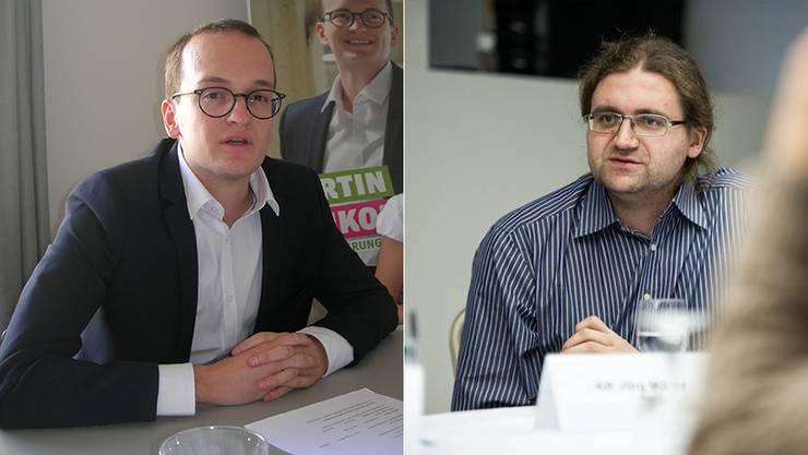 Die Herausforderer: Martin Neukom (Grüne) und Jörg Mäder (GLP).