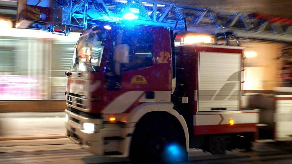 100 Einsatzkräfte bei Grossbrand in Lustenau
