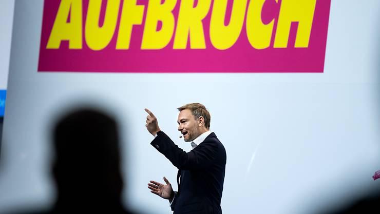 Christian Lindner, Bundesvorsitzender der FDP, spricht beim Bundesparteitag der Freien Demokraten (FDP). Foto: Bernd von Jutrczenka/dpa