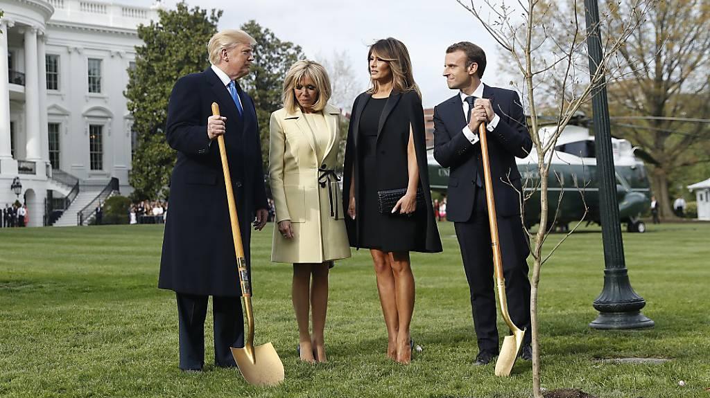 Emmanuel Macron zu Besuch bei Donald Trump