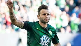 Renato Steffen lässt sich für seinen ersten Saisontreffer feiern