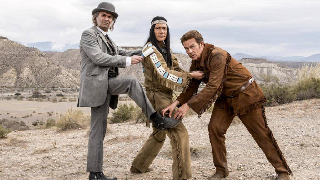 V.l.: Rick Kavanian, Michael Herbig und Christian Tramitz haben «Bullyparade - der Film» abgedreht, nächsten Sommer kommt er in die Kinos. (Pressebild)