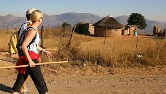 Touristen in Swasiland, das heute Eswatini heisst. Bei einem Busunfall am Montag wurden im kleinen südafrikansischen Königreich mehrere Schweizer Touristen verletzt. (Themenbild)