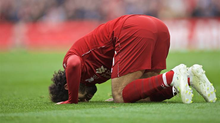 Mohamed Salah feiert Tore regelmässig mit dem Sudschūd.