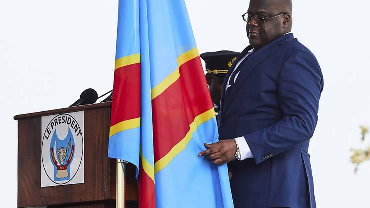 Félix Tshisekedi, der Präsident der Demokratischen Republik Kongo, hat die Hauptstadt Kinshasa abriegeln lassen. (Archivbild)