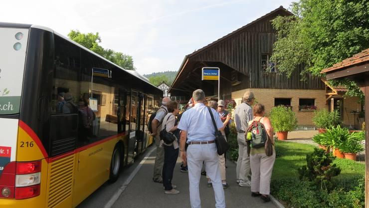 Ankunft in Berg am Irchel
