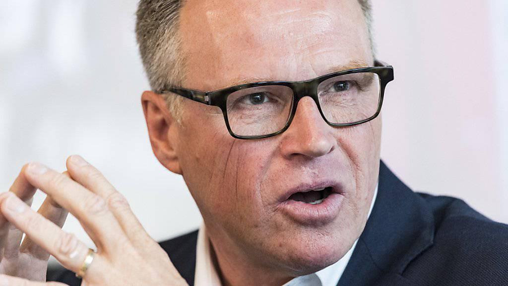 «Wir sind noch in Trauer»: SBB-Chef Andreas Meyer nach dem tödlichen Unfall eines Zugchefs. (Archivbild)