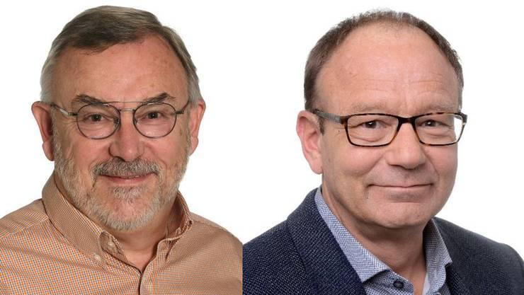 Paul Albrecht (parteilos, links im Bild) holt 204 Stimmen, Markus Hofmann (parteilos) holt 50 Stimmen.