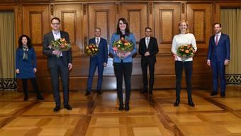 Die Departemente sind verteilt: So sieht der neue Basler Regierungsrat aus.
