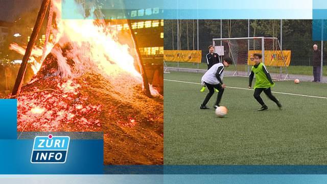 Teures FC-Barcelona-Fussballcamp / Wurst-Fest am Böögg-Feuer