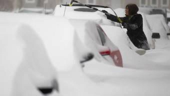 Wer sich ins Freie wagt, muss gegen Schnee und Eiseskälte kämpfen