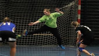HCDU Goalie lässt sich bezwingen.