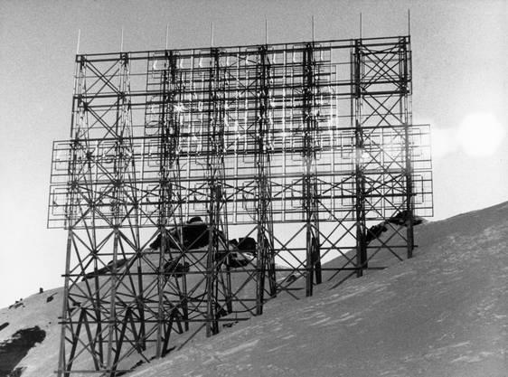 Die Sendeanlage auf dem Pizzo Groppera, 1983