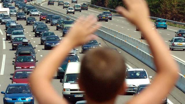 Stau auf einer Autobahn in Frankreich (Archiv)