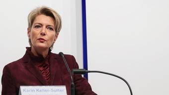 Karin Keller-Sutter während ihrer Rede an der Nominationsversammlung der FDP St.Gallen in Wil.