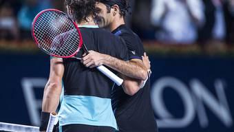 Roger Federer freut sich nach dem Final in Basel