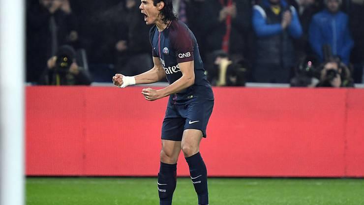 Edinson Cavani, der beste Torschütze der Ligue 1, erzielte einen herrlichen Treffer