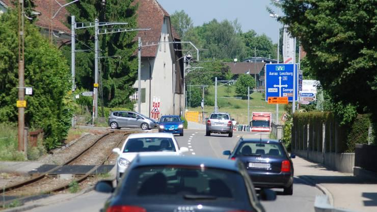 Die Seetalstrasse in Boniswil wird saniert und soll neu gestaltet werden.