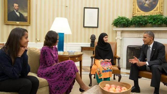 Malala hat beim Treffen im Oval Office mit US-Präsident Obama kein Blatt vor den Mund genommen