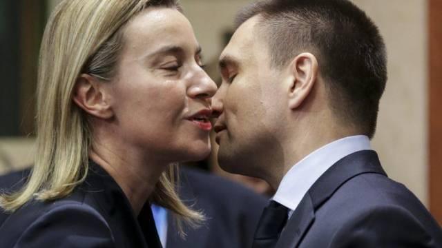 EU-Aussenministerin Mogherini mit Ukraine-Aussenminister Klimkin