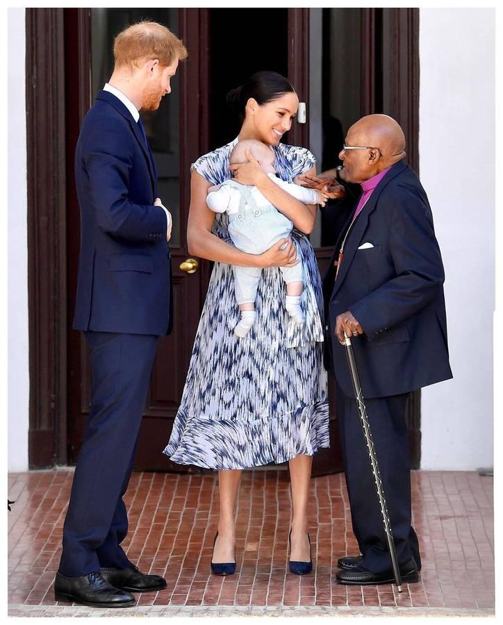Zu Besuch beim Erzbischof Desmond Tutu... (© Instagram/sussexroyal)