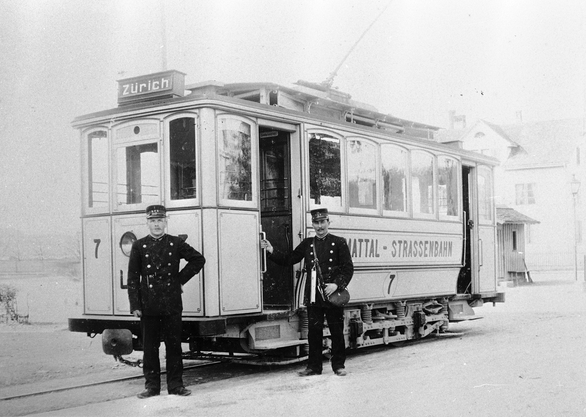 Trammotorwagenserie Ce 2/2 der einstigen Limmattalbahn LSB. Bild © SWS Museum Schlieren