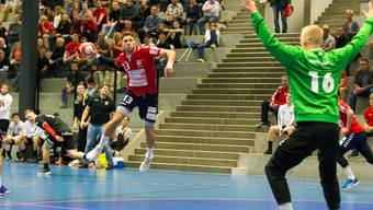 Captain und Topscorer Marius Moser im letzten Meisterschaftsspiel gegen Pfadi.