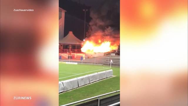 Winterthurer Wurststand geht in Flammen auf