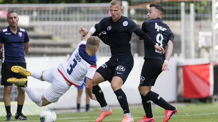Der FC Aarau präsentiert sich harmlos gegen den FC Chiasso.