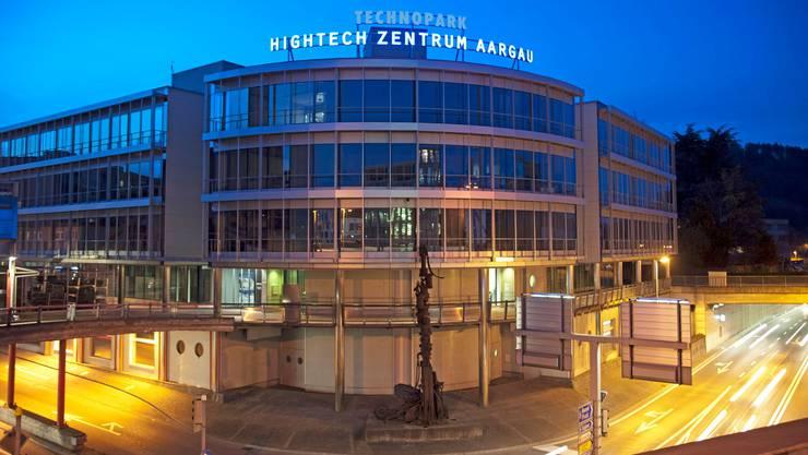 Blick auf das Hightech ZentrumAargau(HTZ) mit Sitz in Brugg. (Archivbild)