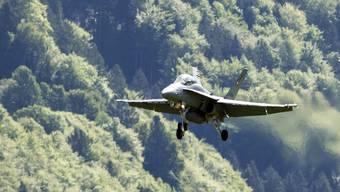 Begrenzte Lebensdauer: Die F/A-18-Flotte der Schweizer Luftwaffe. (Archivbild)
