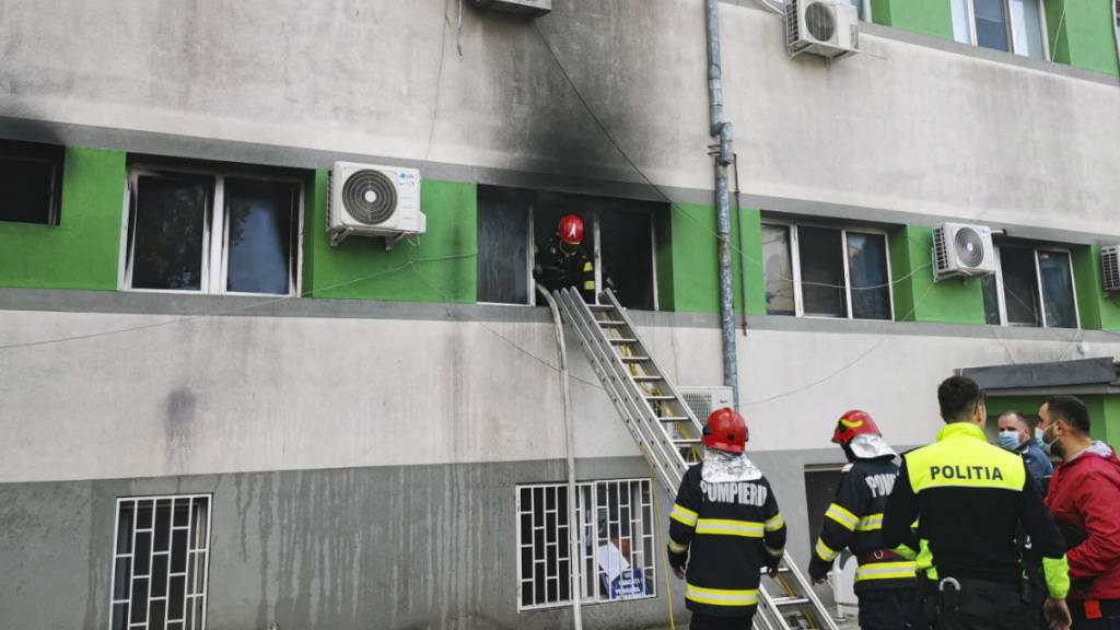 Grossbrand mit mindestens neun Toten in rumänischem Krankenhaus