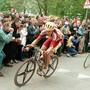 Rolf Järmann auf dem Weg zu seinem zweiten Sieg am Amstel Gold Race 1998