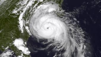 NOAA-Satellitenfoto von Hurrikan Arthur - der erste Hurrikan, der 2014 die USA traf