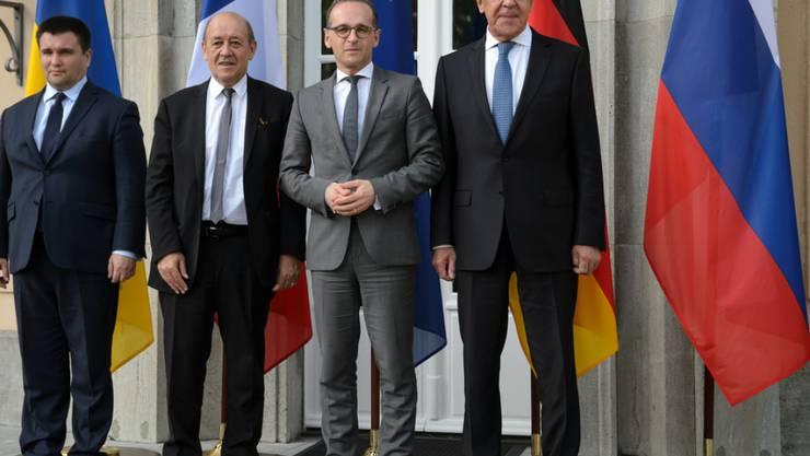 Der deutsche Aussenminister Heiko Maas (SPD) will bei einem Treffen mit seinen Kollegen aus Russland, der Ukraine und Frankreich die festgefahrenen Bemühungen um eine Beilegung des Konflikts in der Ost-Ukraine wieder in Gang bringen.