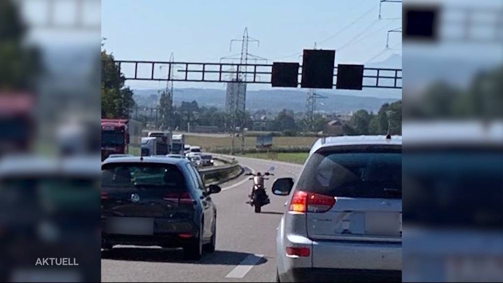 Fahrerloses Motorrad auf A1: Wie geht das?