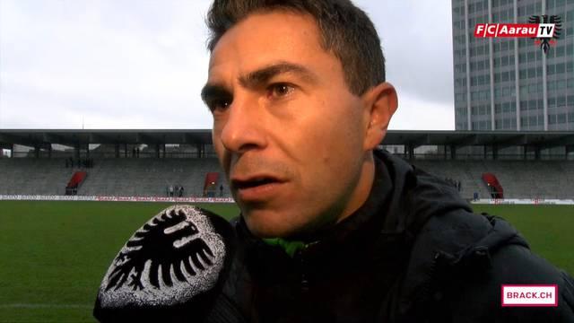 """""""Einen solchen Kaltstart hätte ich nicht erwartet"""": Interimstrainer Sascha Stauch zur FC-Aarau-Partie gegen Winterthur."""