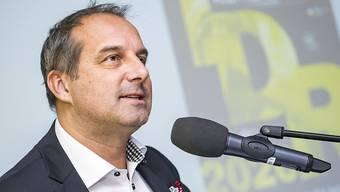 Da war noch alles in Ordnung: Richard Chassot, Direktor der Tour de Romandie, bei der Präsentation der Rundfahrt am 5. Dezember in Aigle