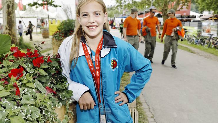 Umfrage am Eidgenössischen Turnfest in Aarau: Nancy (12) aus Affoltern ZH