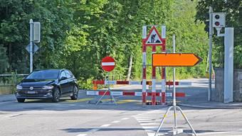 Die Gösgerstrasse ab Trimbacher Brücke Richtung Niederamt wird bis in den Herbst hinein für den Verkehr Stadt auswärts gesperrt bleiben.