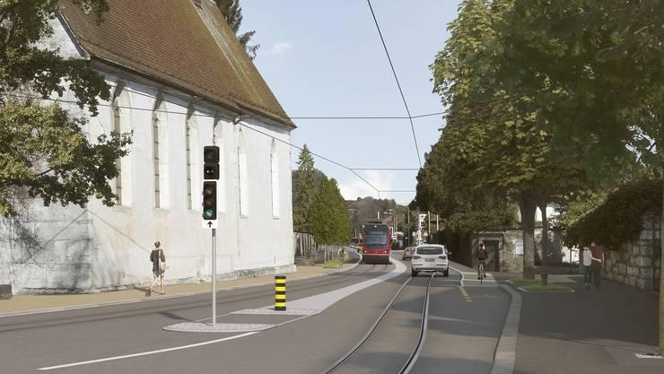 Baselstrasse Neukonzeption Bipperlisi Geleise