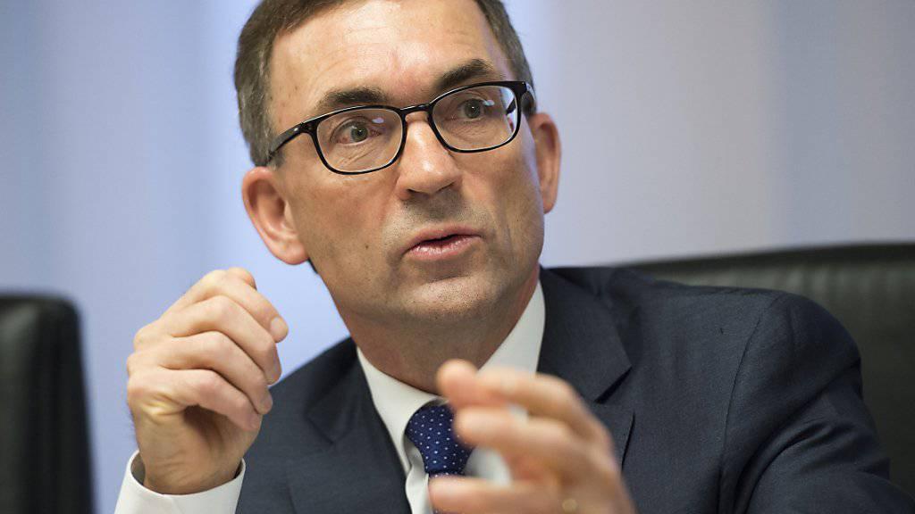 Roland Ledergerber, Präsident der SGKB-Geschäftsleitung: In den ersten sechs Monaten bekam er die Zurückhaltung der Bankkunden zu spüren.